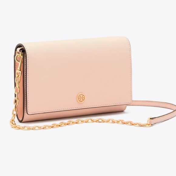 2af8312de4d Tory Burch Bags   Nwt Robinson Chain Wallet Pale Apricot   Poshmark